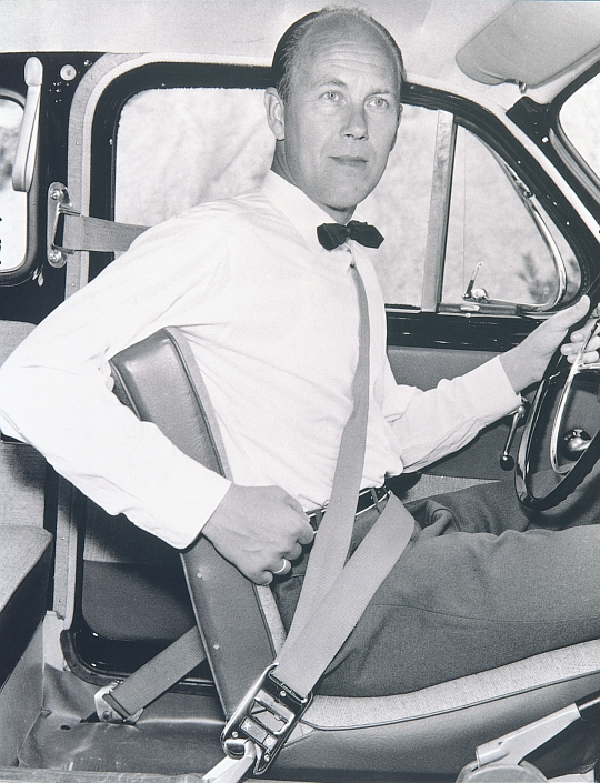 Nils Bohlin inventor of the three-point safety belt.