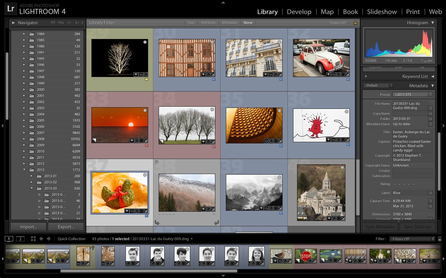 Lightroom offers tools to catalog and edit photos, especially those taken in higher-quality raw photo format.