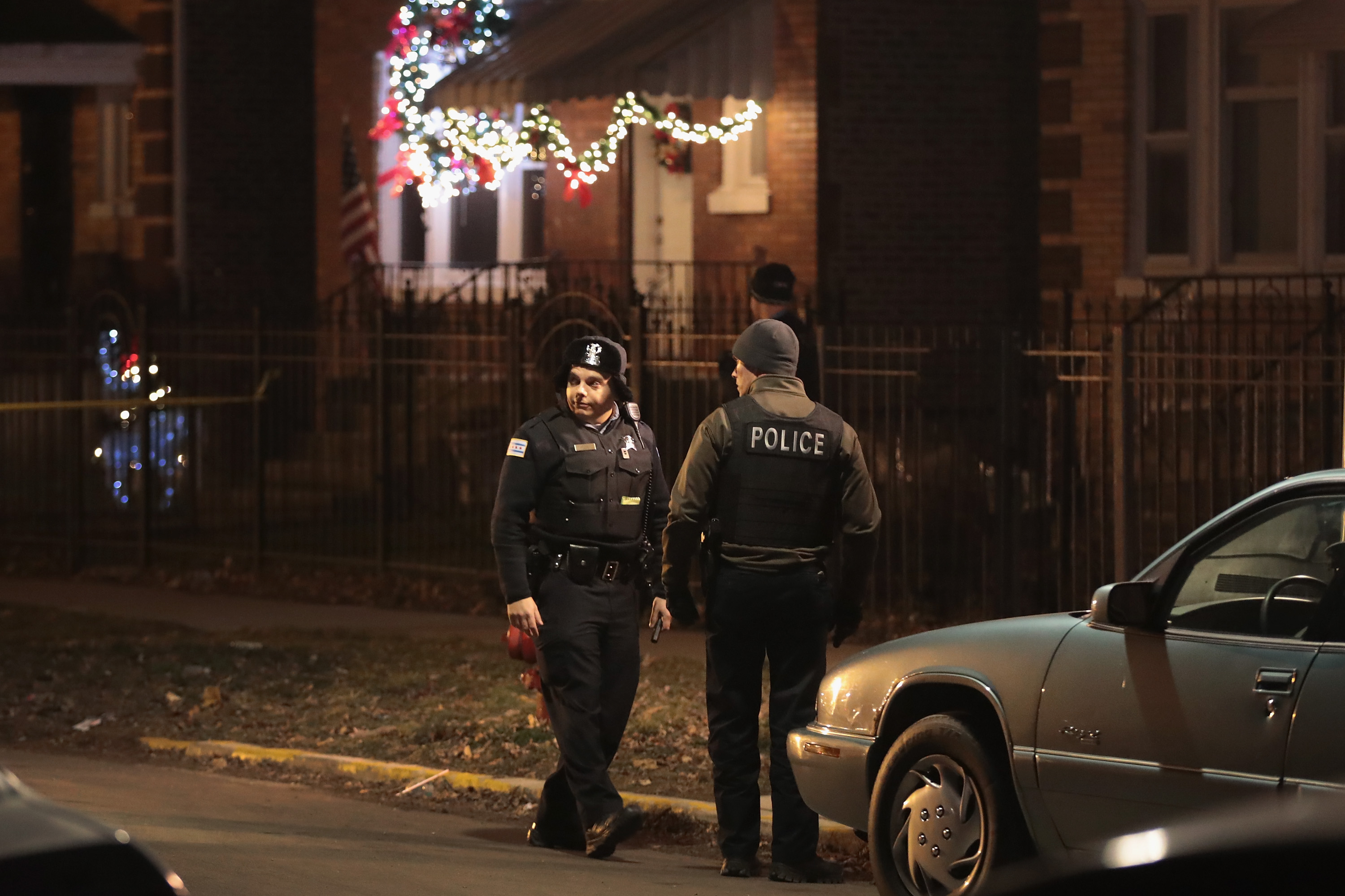 Chicago police on patrol.