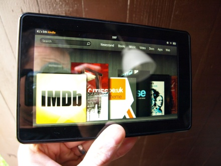 Amazon Kindle Fire home screen carousel