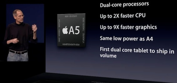 Who will make the chips that follow the Apple A5?
