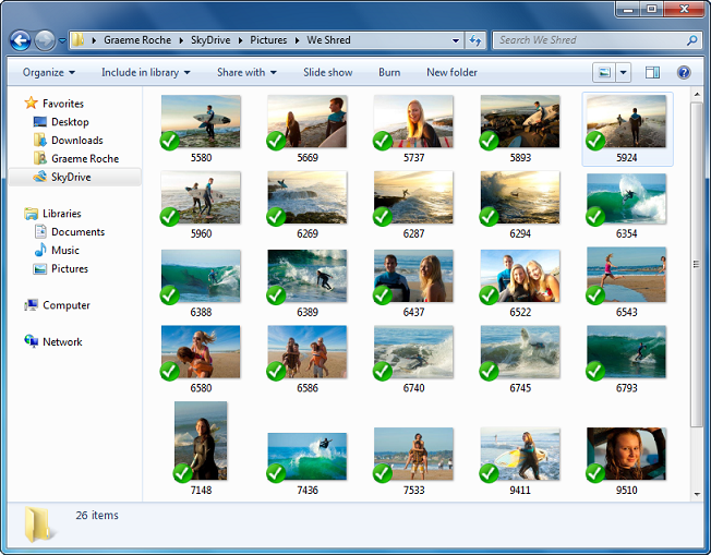 Microsoft's SkyDrive in action.