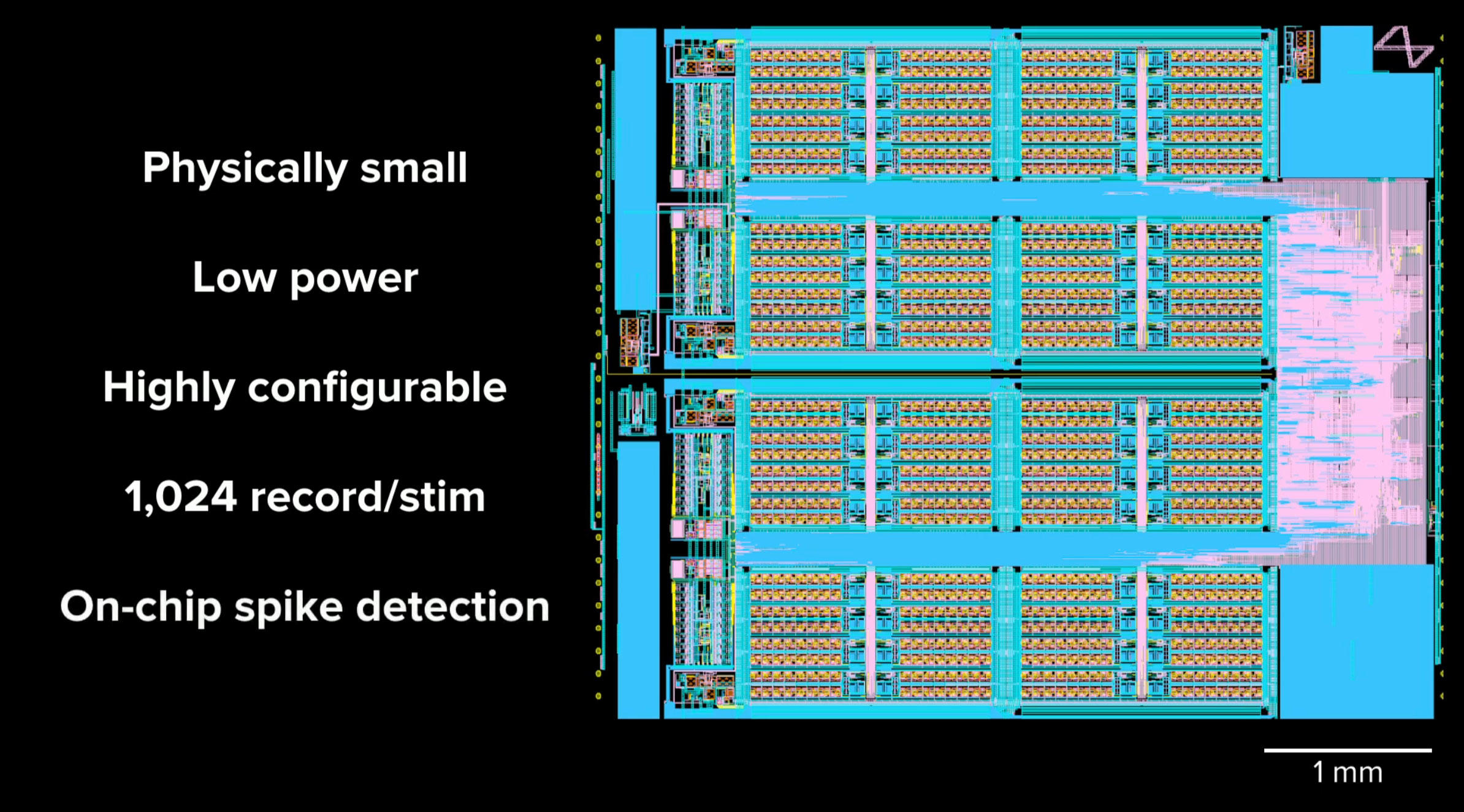 Neuralink's N1 sensor chip, measuring 4x5mm in its present incarnation, can detect spikes of neural activity and send signals back to the brain.