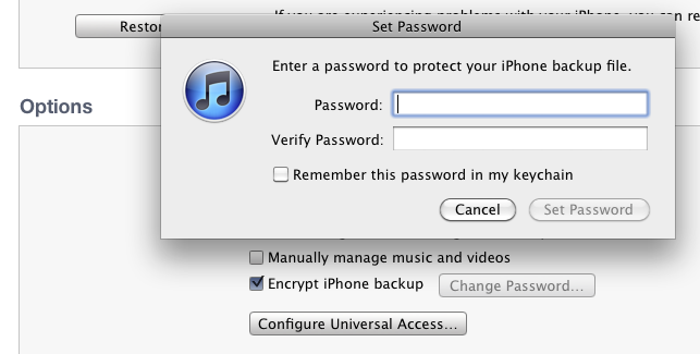 Turning on the backup encryption feature within iTunes can keep those who get access to the file from digging through it to pull out location information.