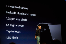 The iPhone 4 has a pretty sophisticated camera for a smartphone.