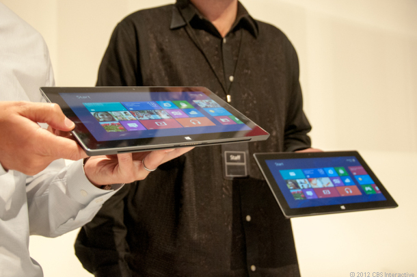 The 10.6-inch Microsoft Surface RT tablet