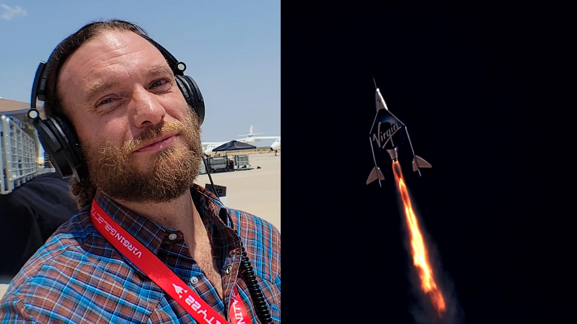 Video: I watched Branson's space journey from the tarmac