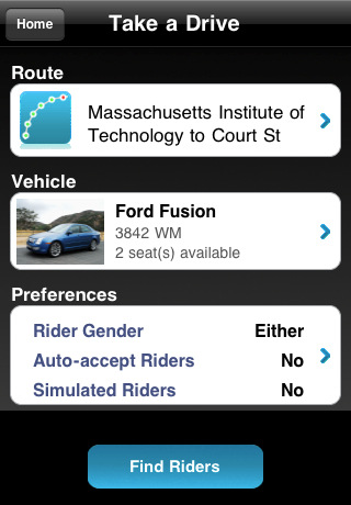 Avego Driver app for iPhone.