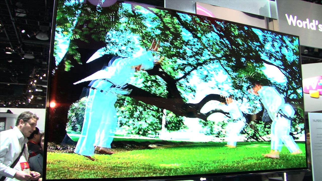 The 55 inch OLED from LG
