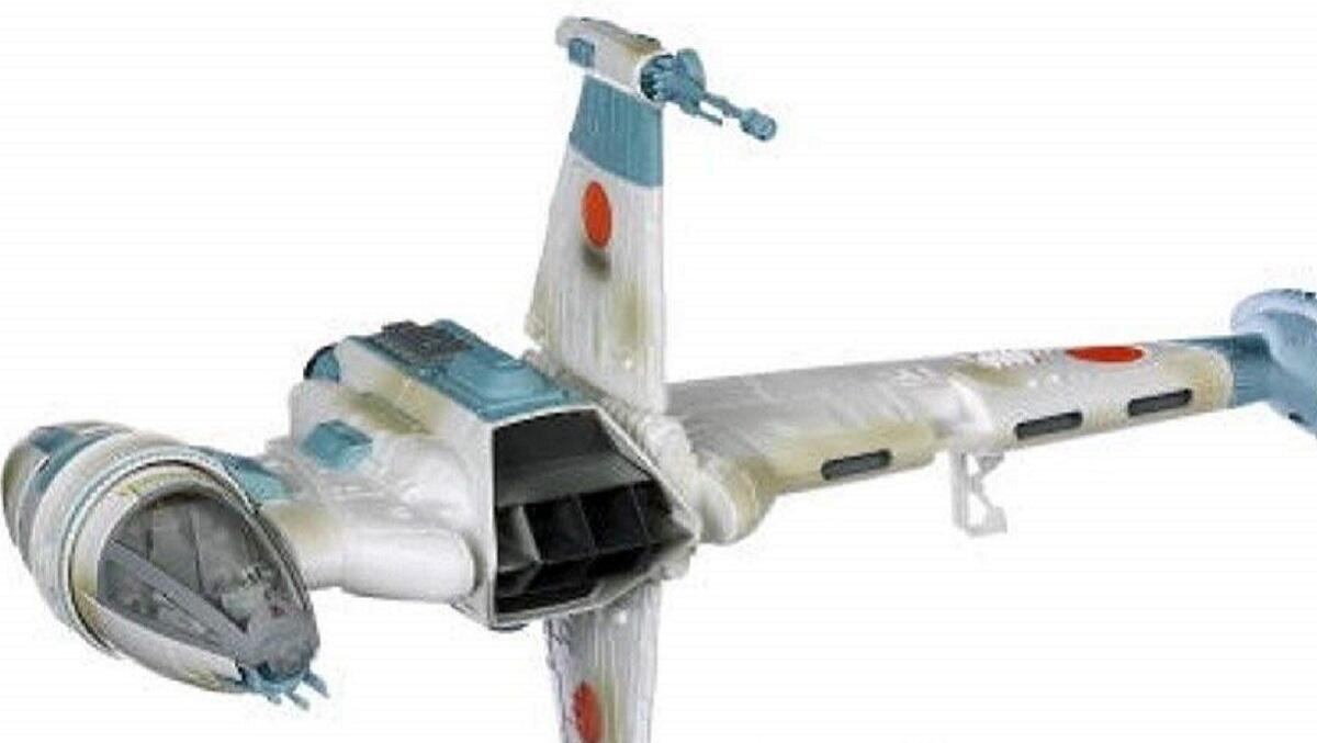Vintage Return of the Jedi B-wing fighter