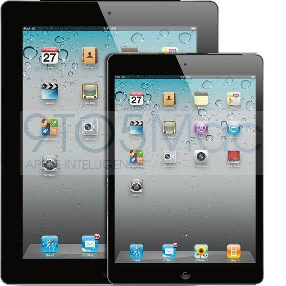 A mock-up of a smaller iPad.