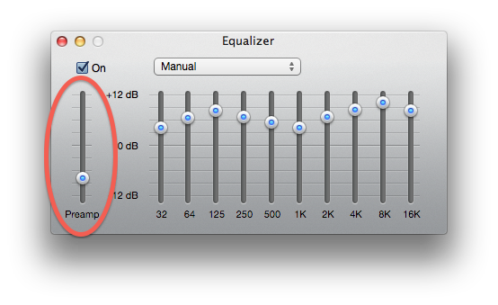 iTunes equalizer settings