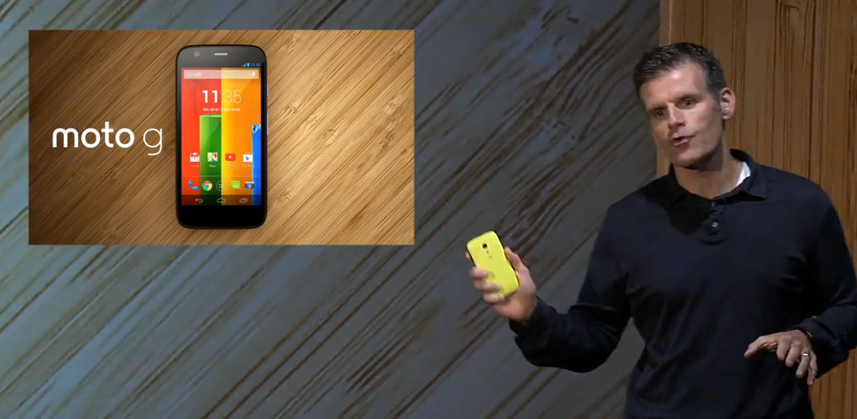 Motorola Mobility CEO Dennis Woodside introduces the Moto G.