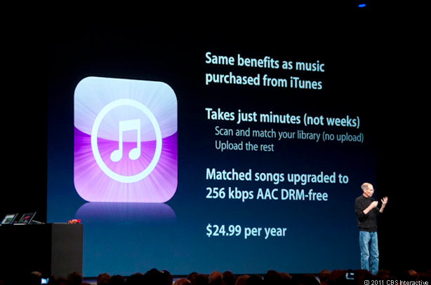 """""""One more thing"""" at WWDC is iTunes Match."""