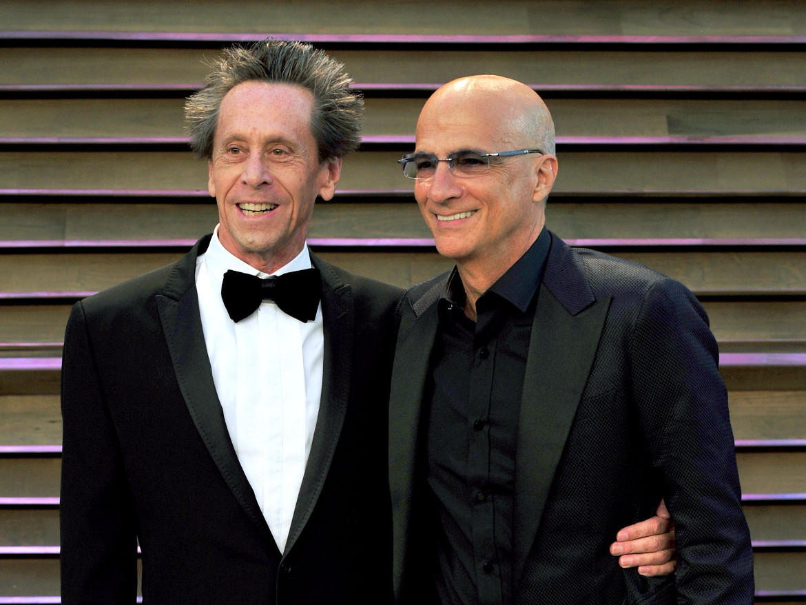 <p>Apple Music's Jimmy Iovine (right) with Hollywood producer Brian Grazer. The two plan to make beautiful video together, says a report.</p>