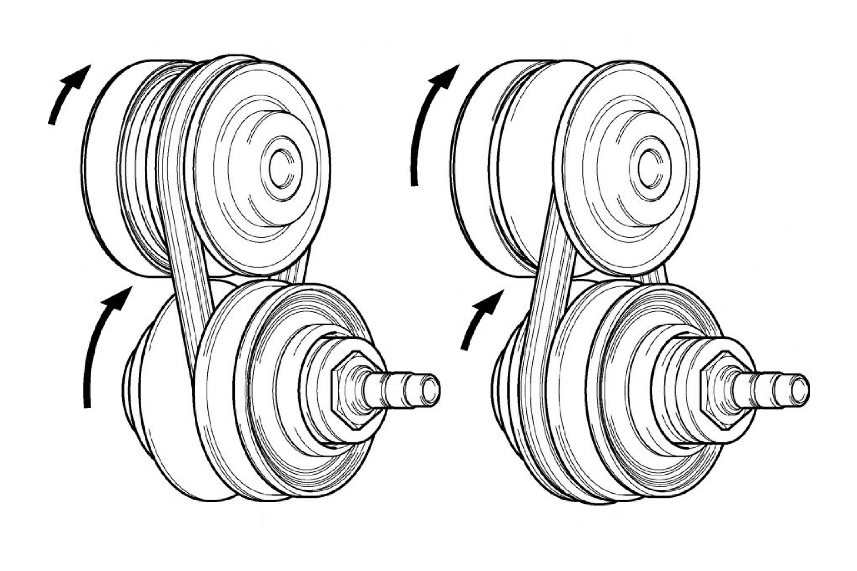 CVT/continuously variable transmission diagram