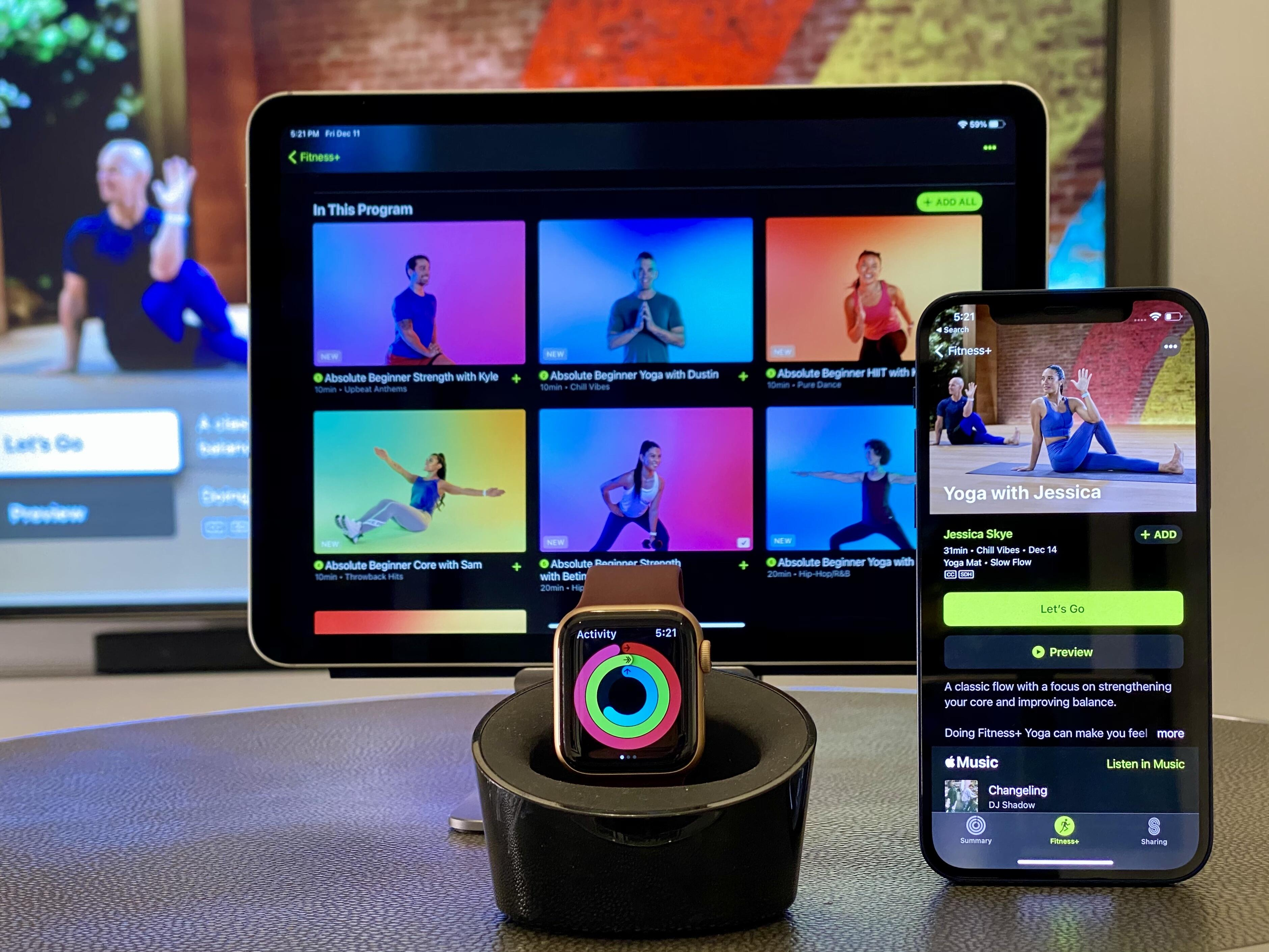 <p>Apple's Fitness Plus app is available on the iPhone, iPad and AppleTV.&nbsp;</p>