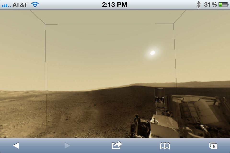 Good morning, Red Planet! Take an interactive tour by viewing this super-sexy panorama on your iDevice.