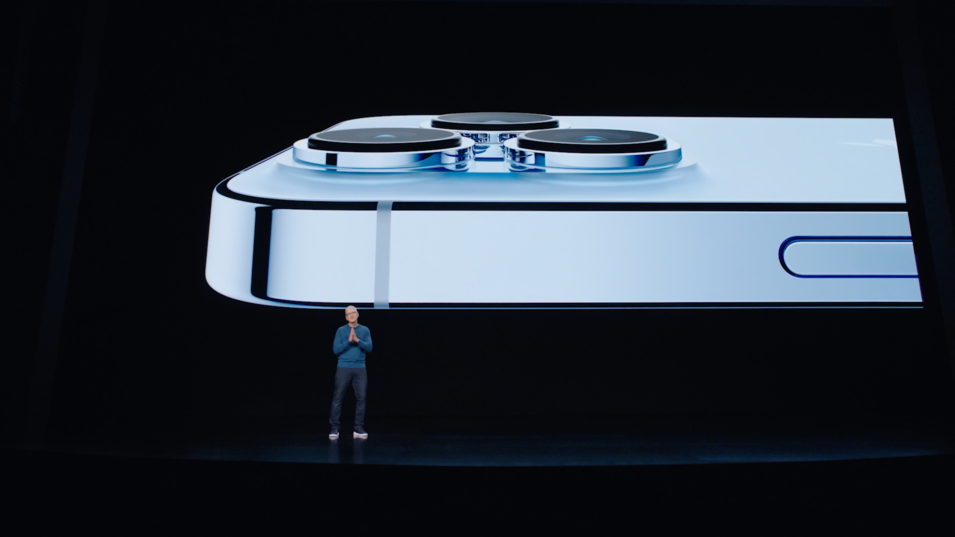 Tim Cook introducing the iPhone 13
