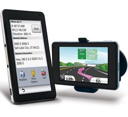 Garmin Nuvi 3700 series with suction cup mount
