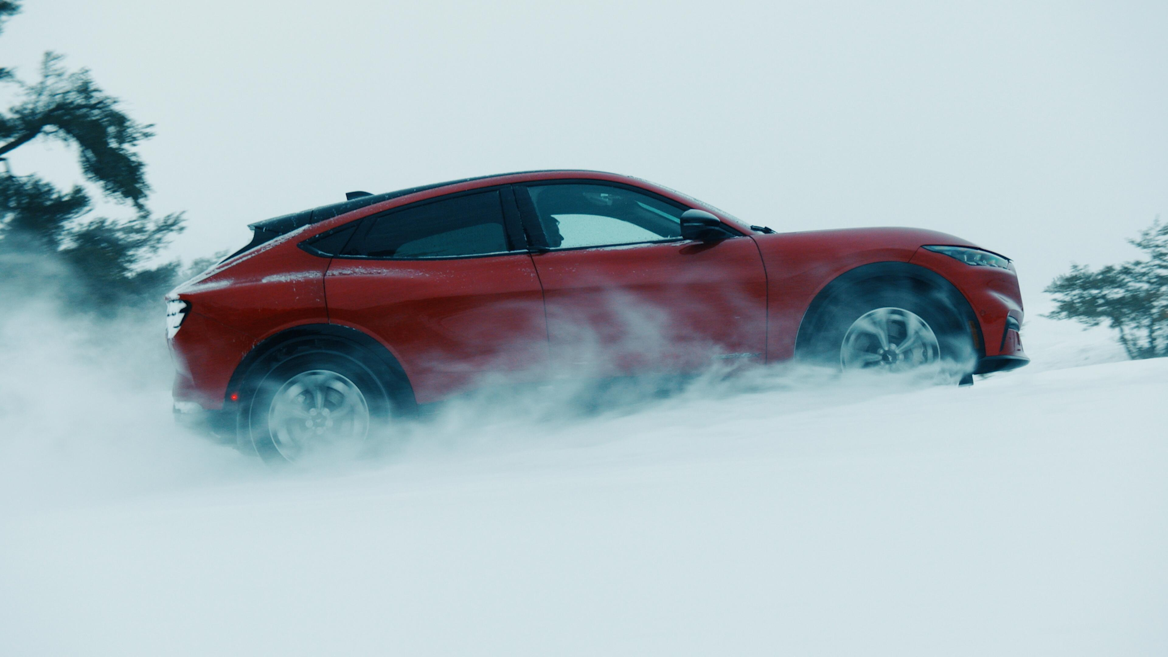 2021 Ford Mustang Mach-E winter testing