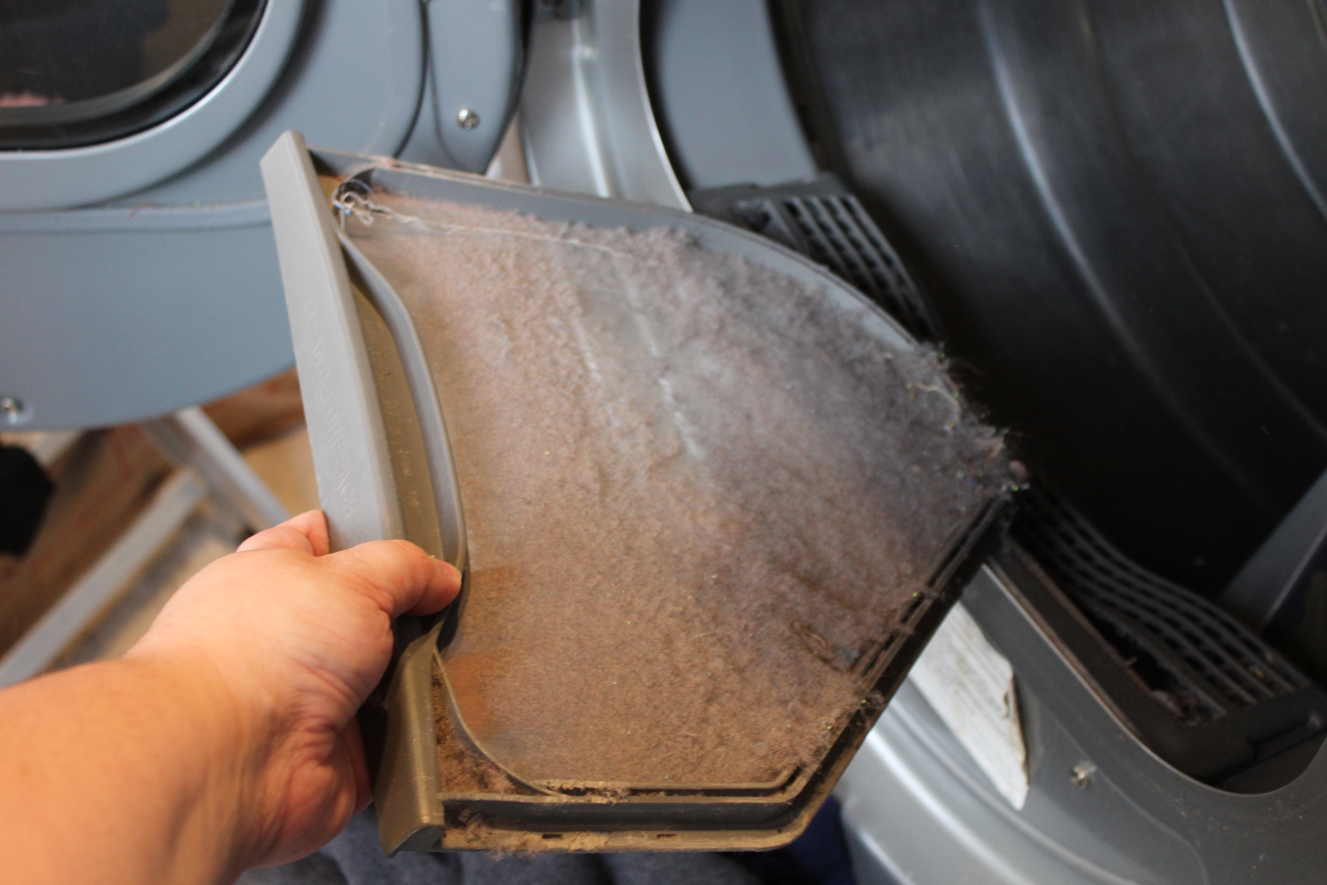 You don't clean the dryer filter