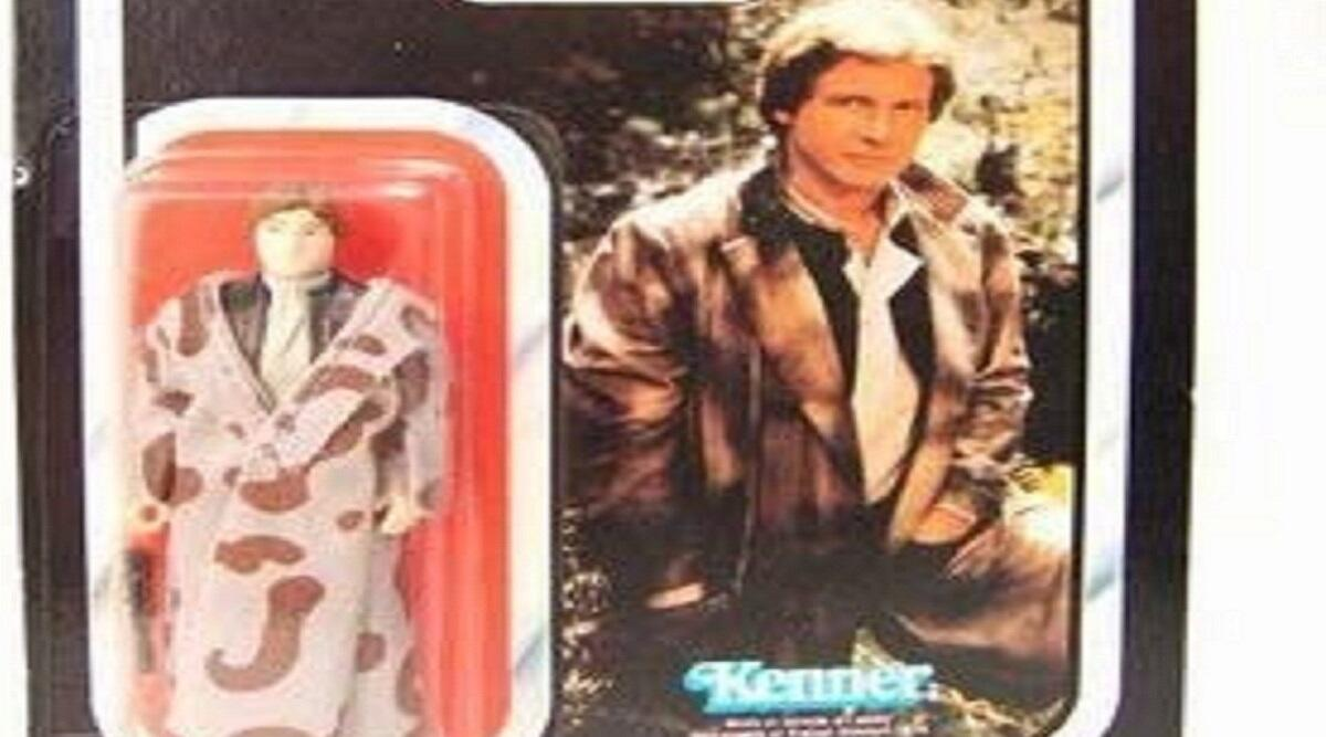 Vintage 1983 Star Wars Return of the Jedi Han Solo in trench coat