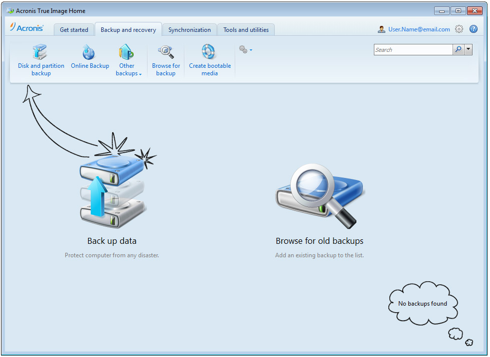 The new True Image Home 2012 software offers file synchronization and a better user interface.