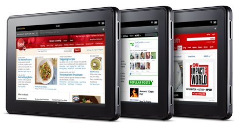 Amazon's new Silk browser running on its upcoming Kindle Fire tablet.