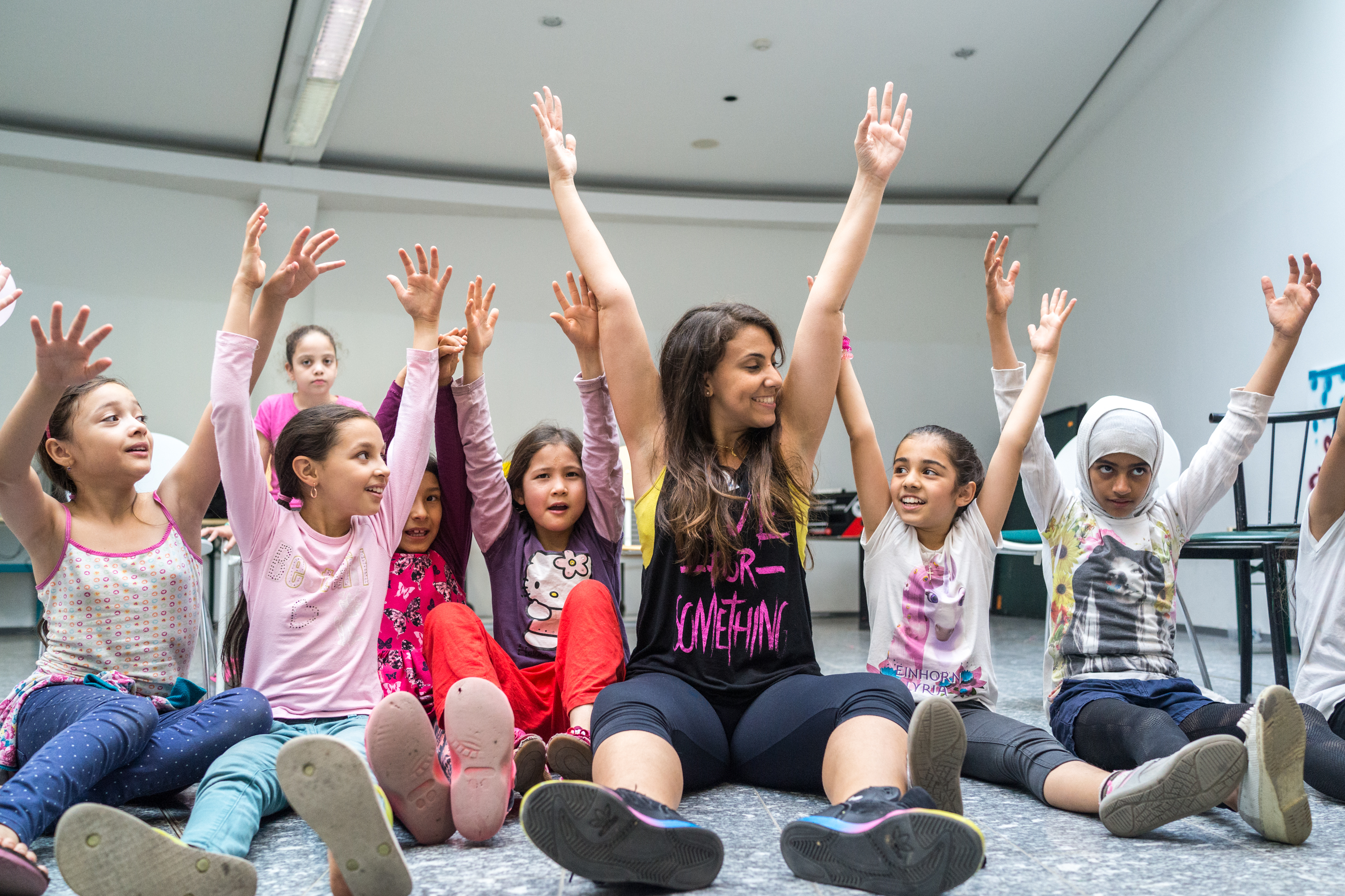 Joining these girls in their dance class was a heartwarming experience.