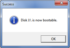 Now bootable