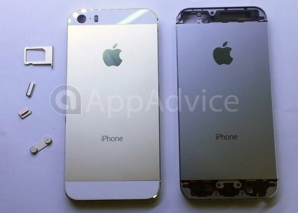 Rumored champagne gold iPhone 5S (L).