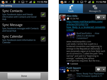How to make your Samsung Galaxy S2 a social network powerhouse: step 2.2