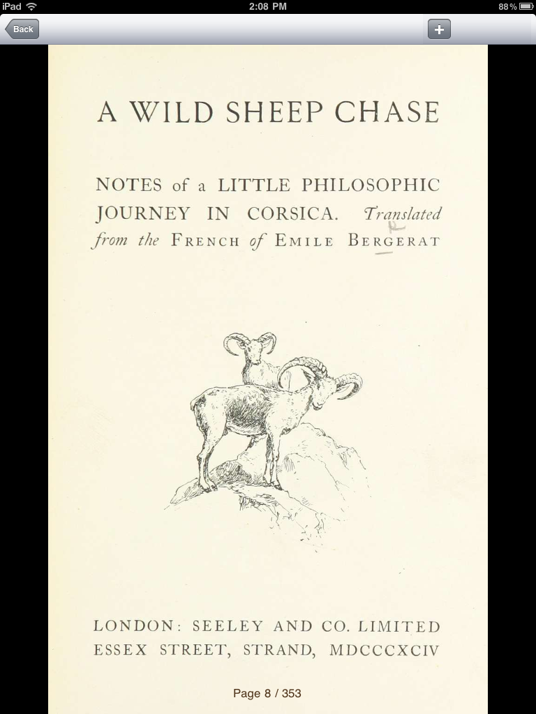 """British Library 19th Century Books """"A Wild Sheep Chase"""""""