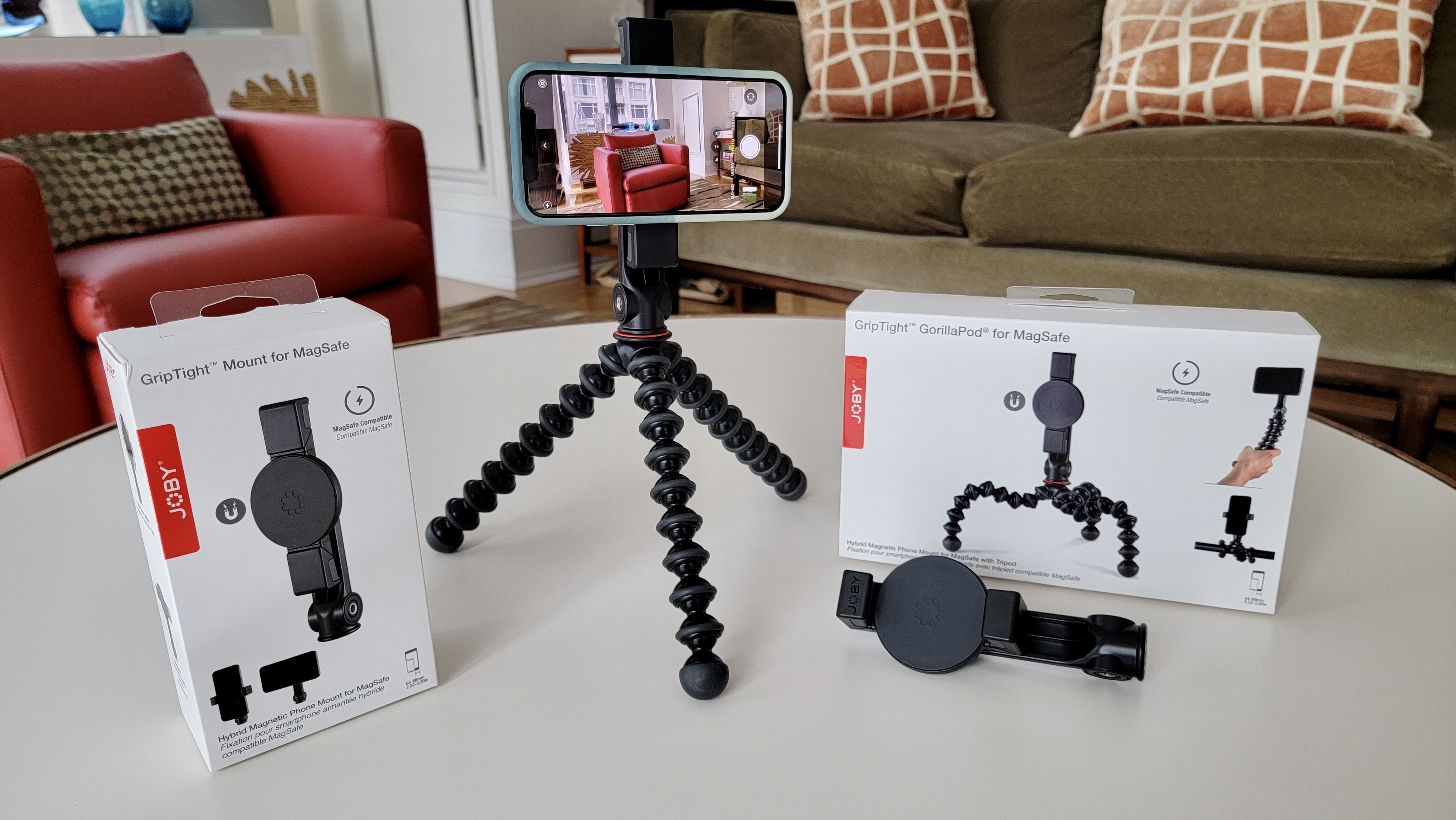 Joby adds nifty MagSafe accessories to its iPhone tripod line