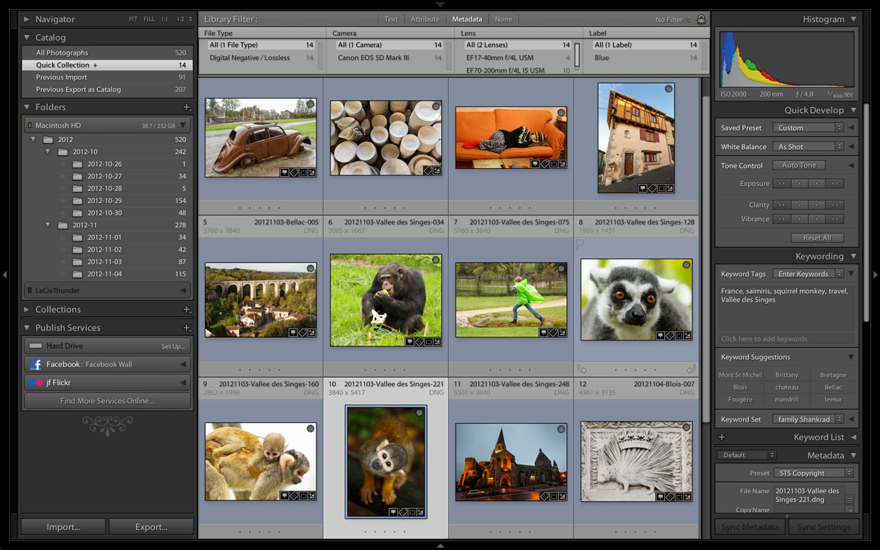 Unfortunately, the Lightroom 4.3 release candidate doesn't support high-resolution displays in the library module, where it's useful for looking at thumbnail images.