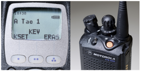 Motorola XTS5000 handheld, which uses the Project 25 standard