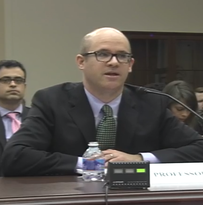 Law professor Orin Kerr, shown testifying before a congressional panel earlier this year about electronic privacy law.