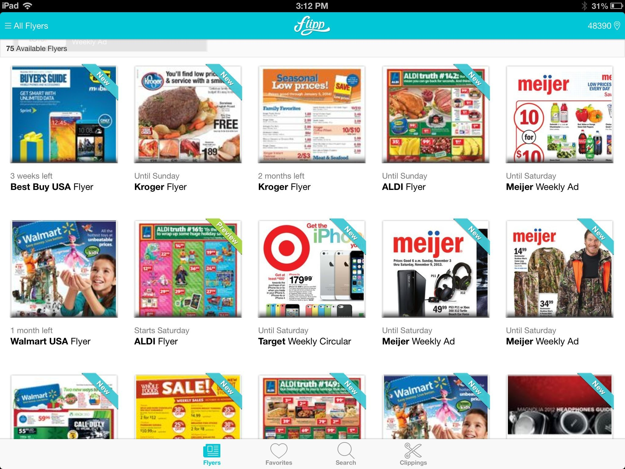 Flipp for iOS aggregates weekly circulars for most local chains.