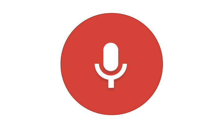 Google conversational search microphone icon