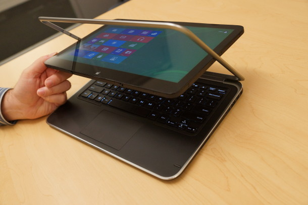 Dell said that the XPS 12  convertible is up for preorder, starting at $1,199.99.