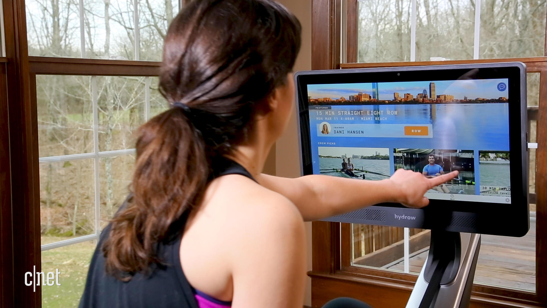 Video: Smart indoor rower gets you fit right at home