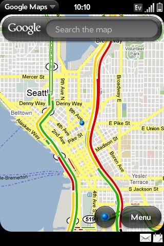 Google Maps location (with traffic)