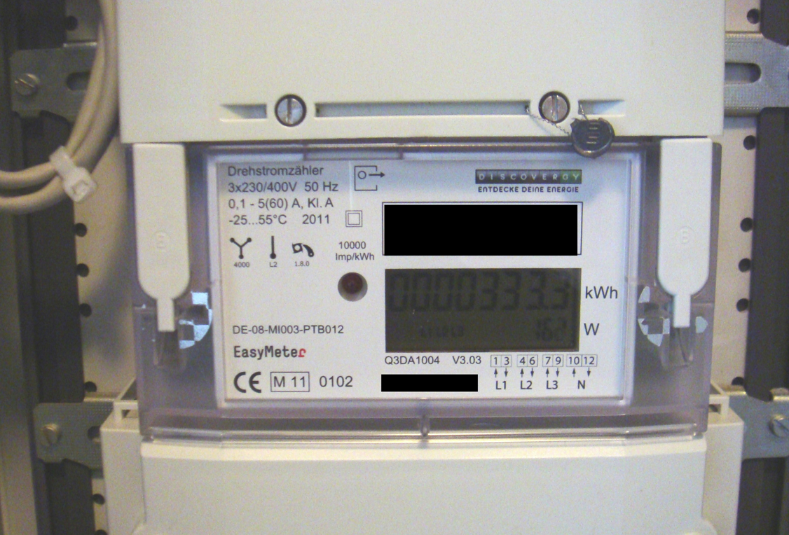 A Discovergy smart meter used for testing by researchers who found that they could snoop on some of the data transmitted over the Internet to figure out what specific content was being viewed on the digital TV.