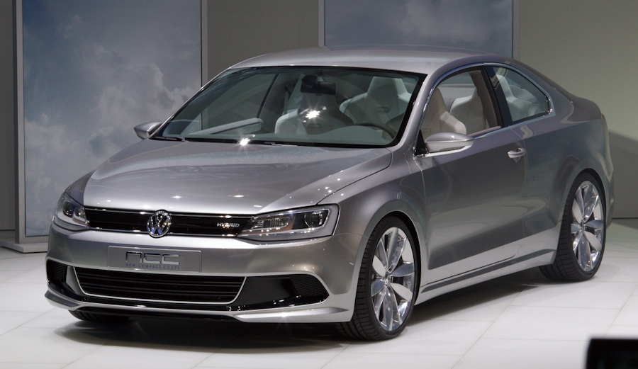 VW's New Compact Coupe seen at its Detroit debut Monday.