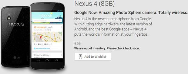 Is the Nexus 4 soon to be no more?