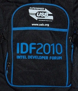 Ironically, USB 3.0 was promoted prominently on Intel Developer Forum bags last week. Ironic because Intel has yet to support the standard in its chipsets.