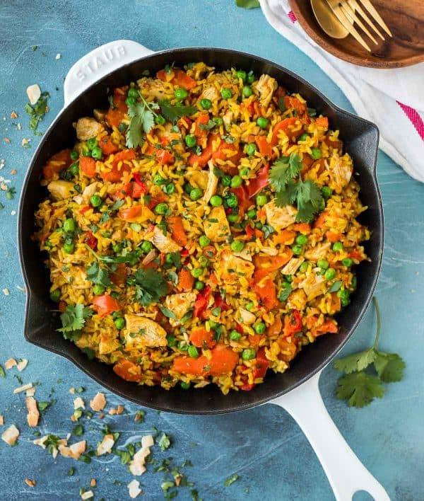 golden-instant-pot-chicken-and-rice-wellplated