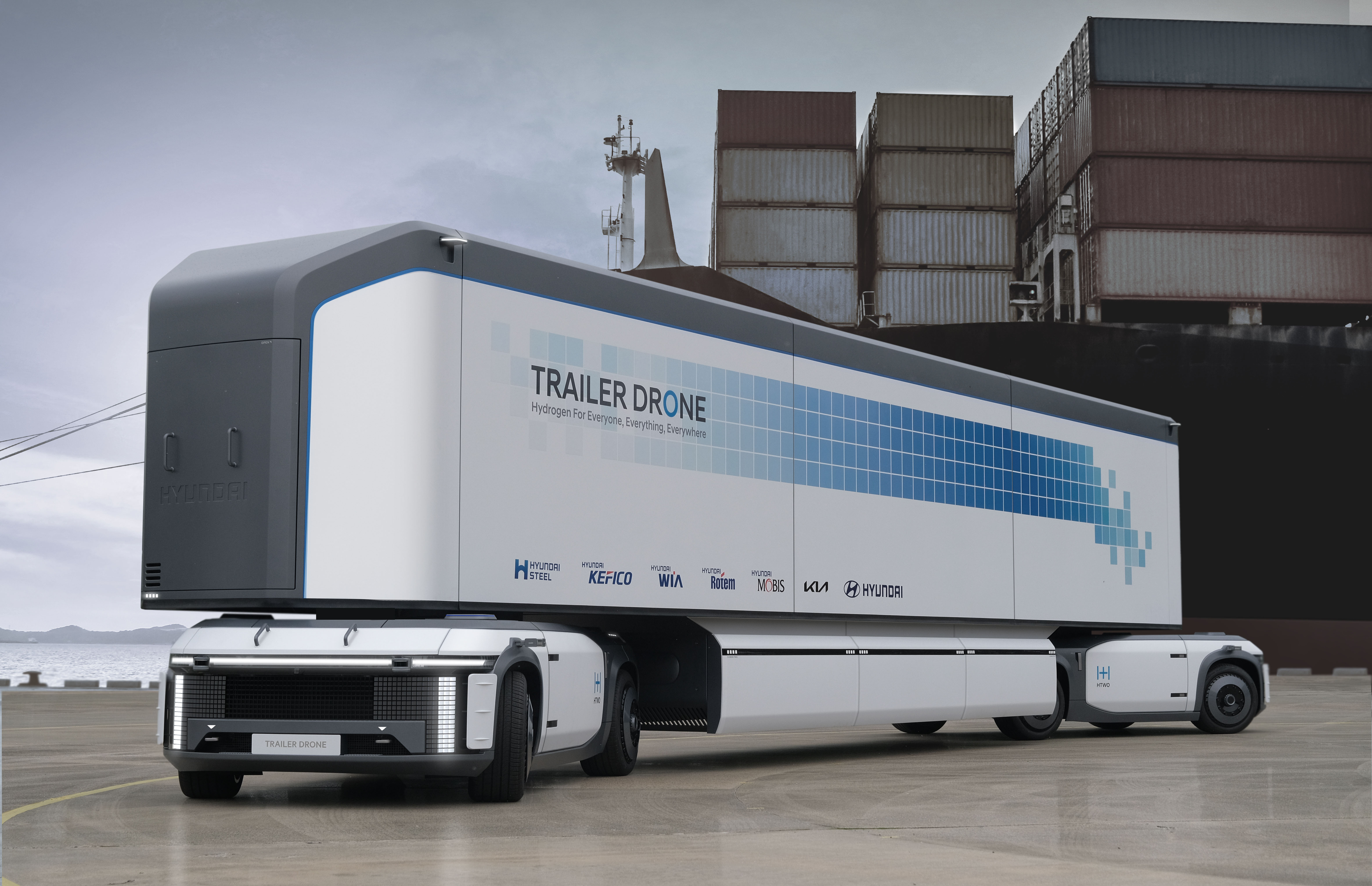 Hyundai Fuel Cell Trailer Drone is the future of trucking, hold the trucks     - Roadshow