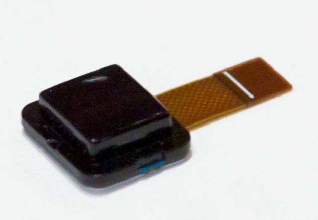 The fingermouse package that contains the same image sensor as an optical mouse.